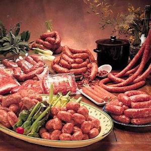 Morlupo Les saucisses fraîches et séchées