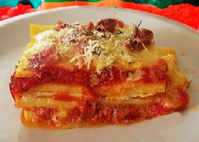 Recette aoste polenta au fromage et la tomate - Polenta cuisson au four ...